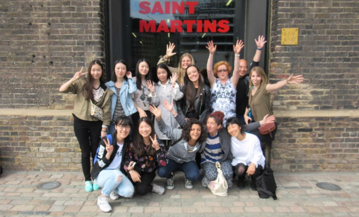 The summer's Central Saint Martins Entrepreneurship for Creatives Students